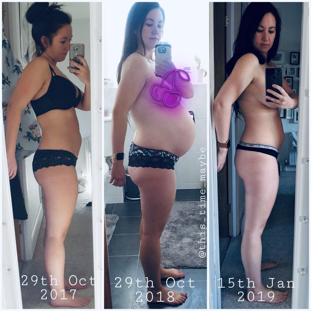 Bev pregnancy journey social post and blog