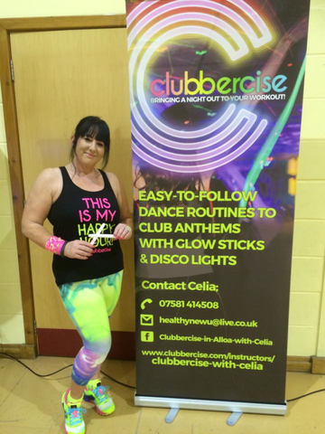 Celia Flanagan Clubbercise Instructor based in Scotland
