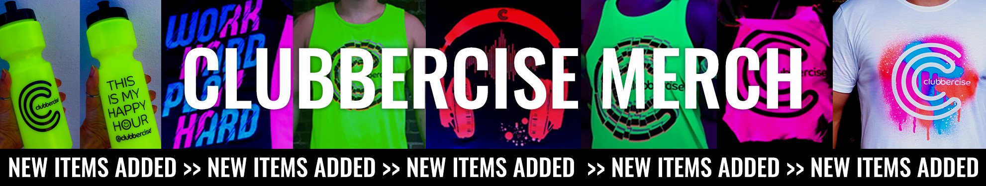 Clubbercise Website MerchBanner Aug19