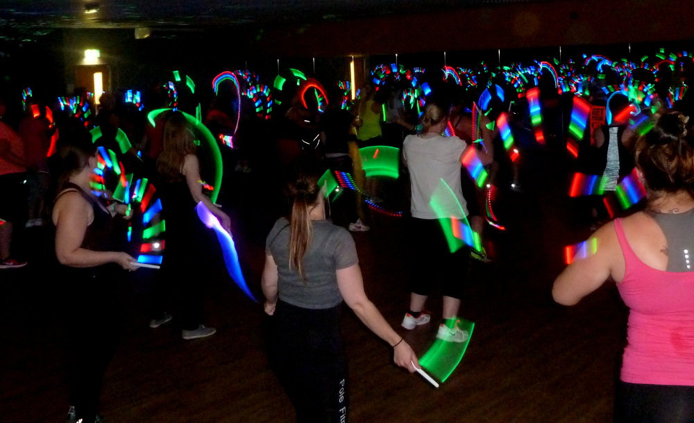 Clubbercise dance fitness class